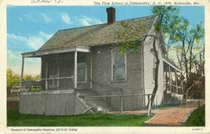 CAO - First School Of Osteopathy, A.D. 1876, Kirksville, Mo.